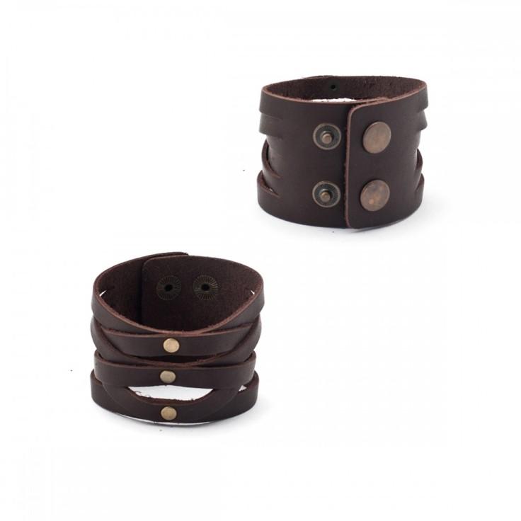 Кожаный браслет Милано