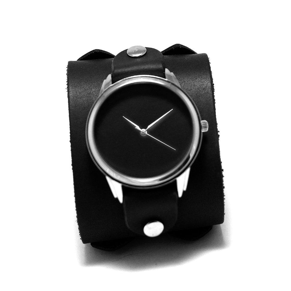 a8b95c57 Наручные часы Matte black с черным матовым циферблатом на широком ...